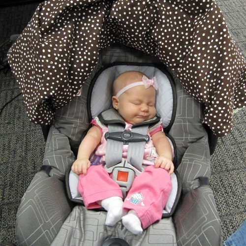 getting so big in her carseat